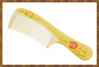 Comb-Boxwood Hand Painted 4-5