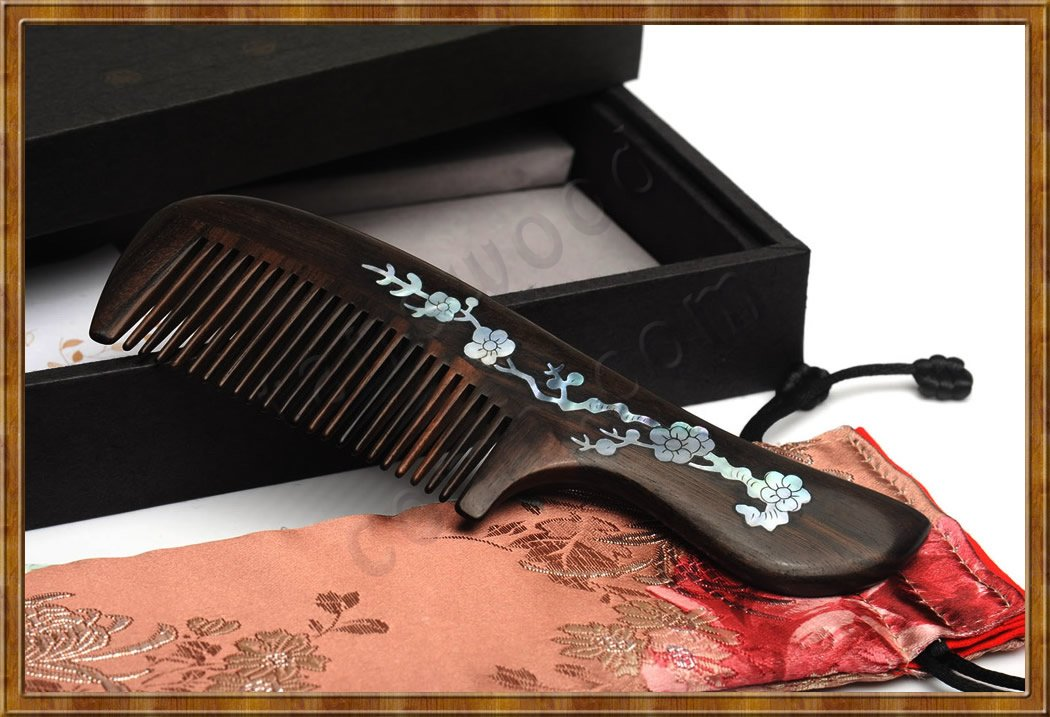 Gift Set-Marquetry Comb Plum Blossom - Click Image to Close