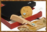 Gift Set-Comb & Mirror Hand Painted Butterfly