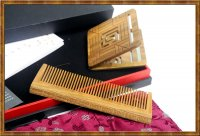 Gift Set-Comb & Mirror Hollow Out Auspicious