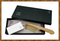 Gift Set-Comb Jade Sandalwood and White Horn 3-4
