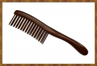 Detangling Comb-Two Rows Rosewood Teeth Insert 0103
