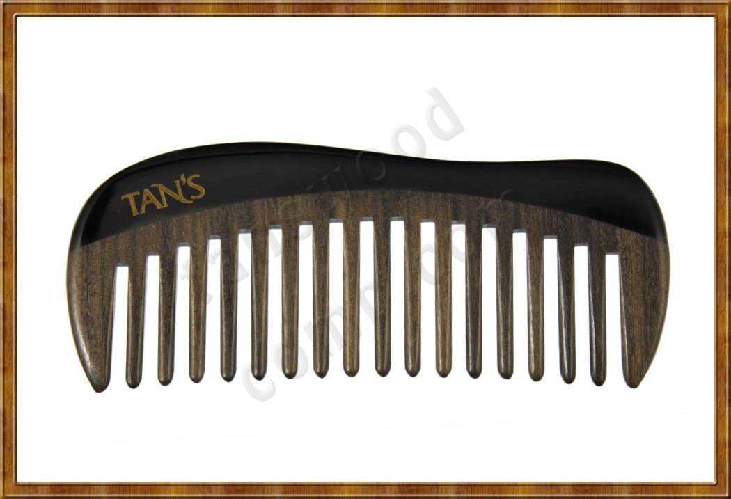 Black Horn Scraping & Massage Comb 2 - Click Image to Close