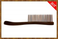 Detangling Comb-Two Rows Rosewood Teeth Insert 2-10