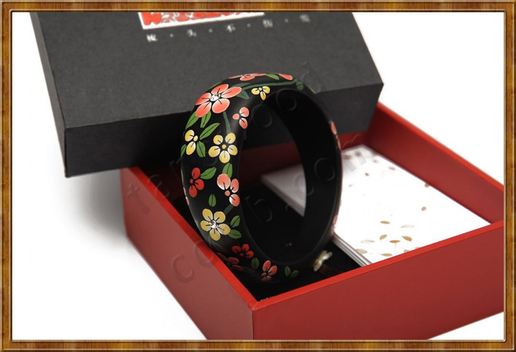 Gift Set-Hand Painted Bangle Thoughts - Click Image to Close