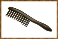 Detangling Comb-Two Rows Rosewood Teeth Insert 0401