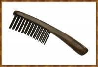Detangling Comb-Two Rows Rosewood Teeth Insert 0301