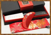 Gift Set-Comb Boxwood Lacquer Blossom Age 8
