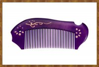 Comb-Boxwood Natural Dyed Purple 0602
