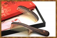 Gift Set-Couple Rosewood and Horn Combs Joyous