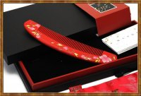 Gift Set-Comb Boxwood Lacquer Blossom Age 1