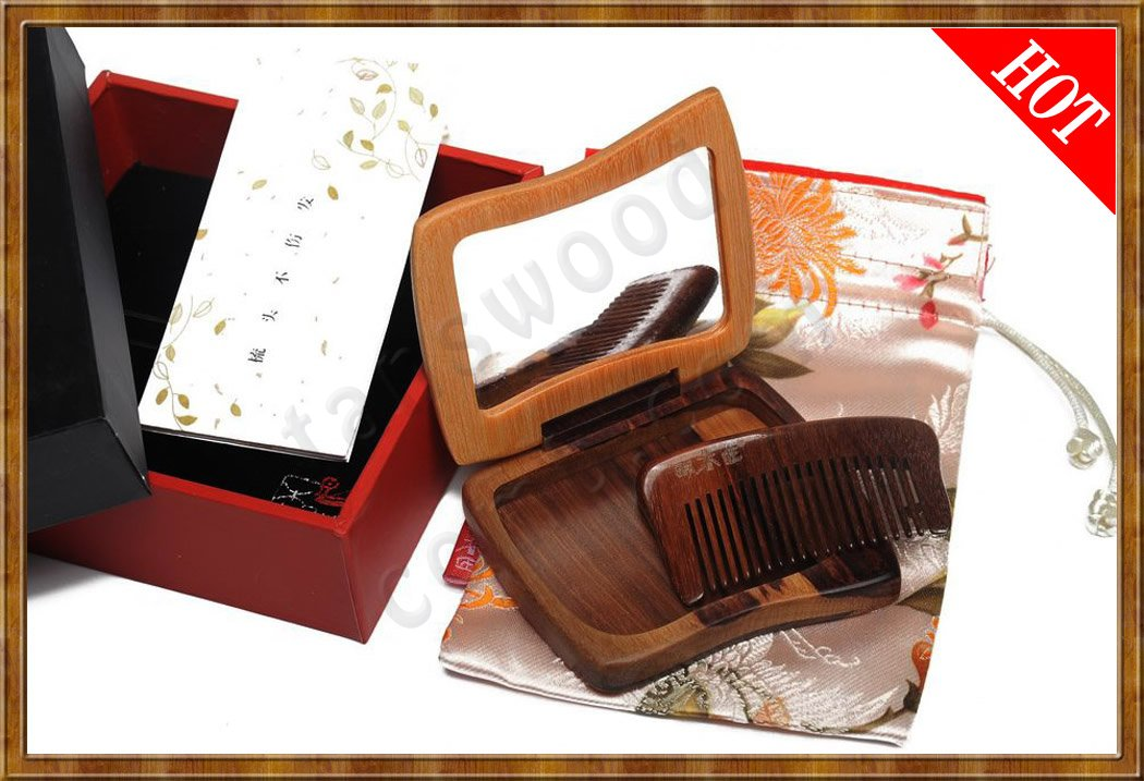 Gift Set-Comb & Mirror Hollow Out The Face - Click Image to Close