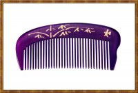 Comb-Boxwood Natural Dyed Purple 0604