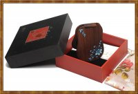 Gift Set-Lacquer Painting Mirror Blue