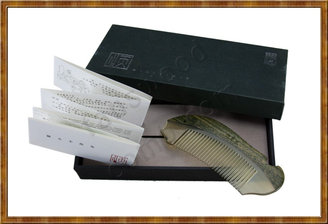 Gift Set-Comb Jade Sandalwood and White Horn 6-6 - Click Image to Close